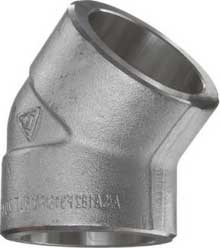 sw elbow 45 - What are details of ASME B16.11 socket weld fittings?