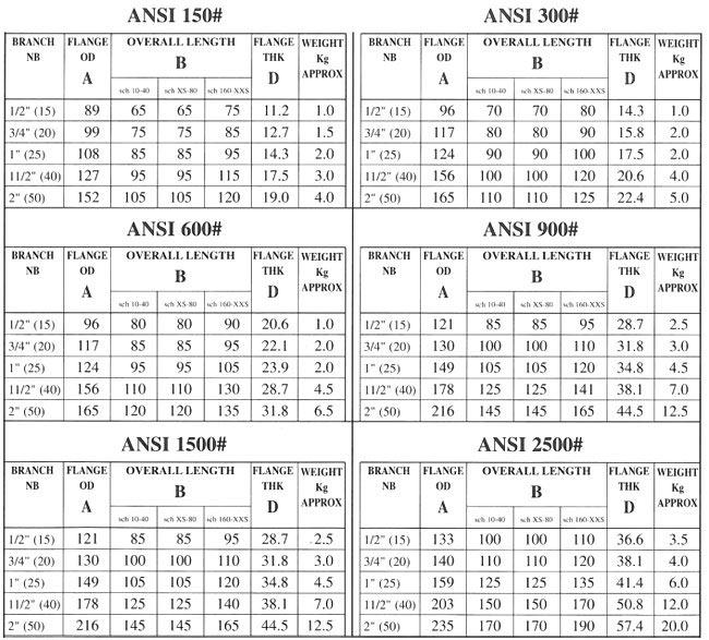 ansi nipoflange - Weldoflange/Nipoflange