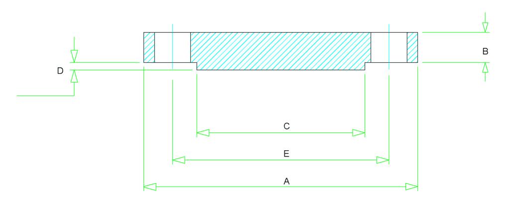 blind flange dimensions 1 1024x424 - ANSI B16.5 ASTM B381 Titanium Blind Flange